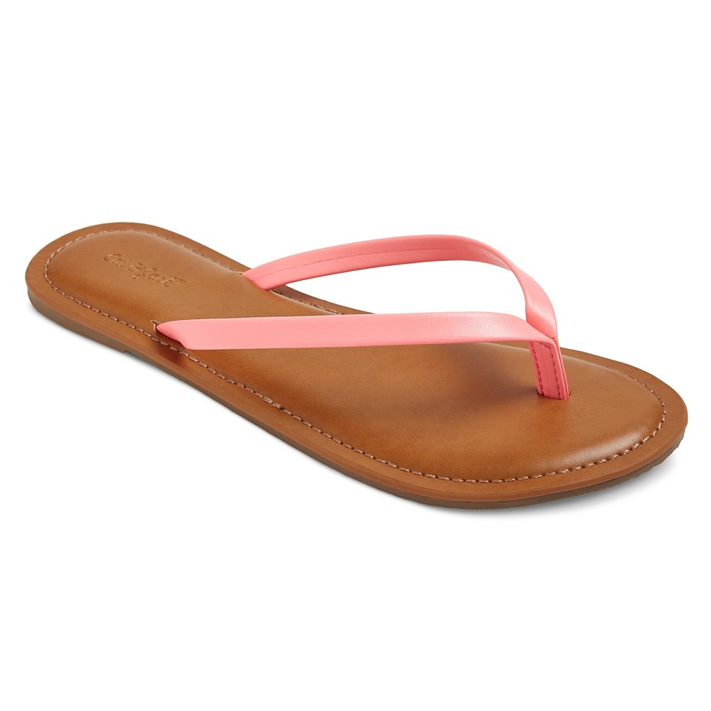 Girls Nava Flip Flop Sandals Cat & Jack - Pink XL