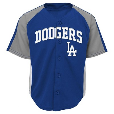Los Angeles Dodgers Baby Boys' Button Down Team Jersey - 12 M