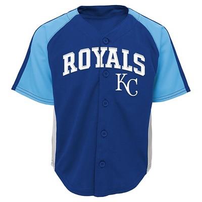 Kansas City Royals Baby Boys' Button Down Team Jersey 12M