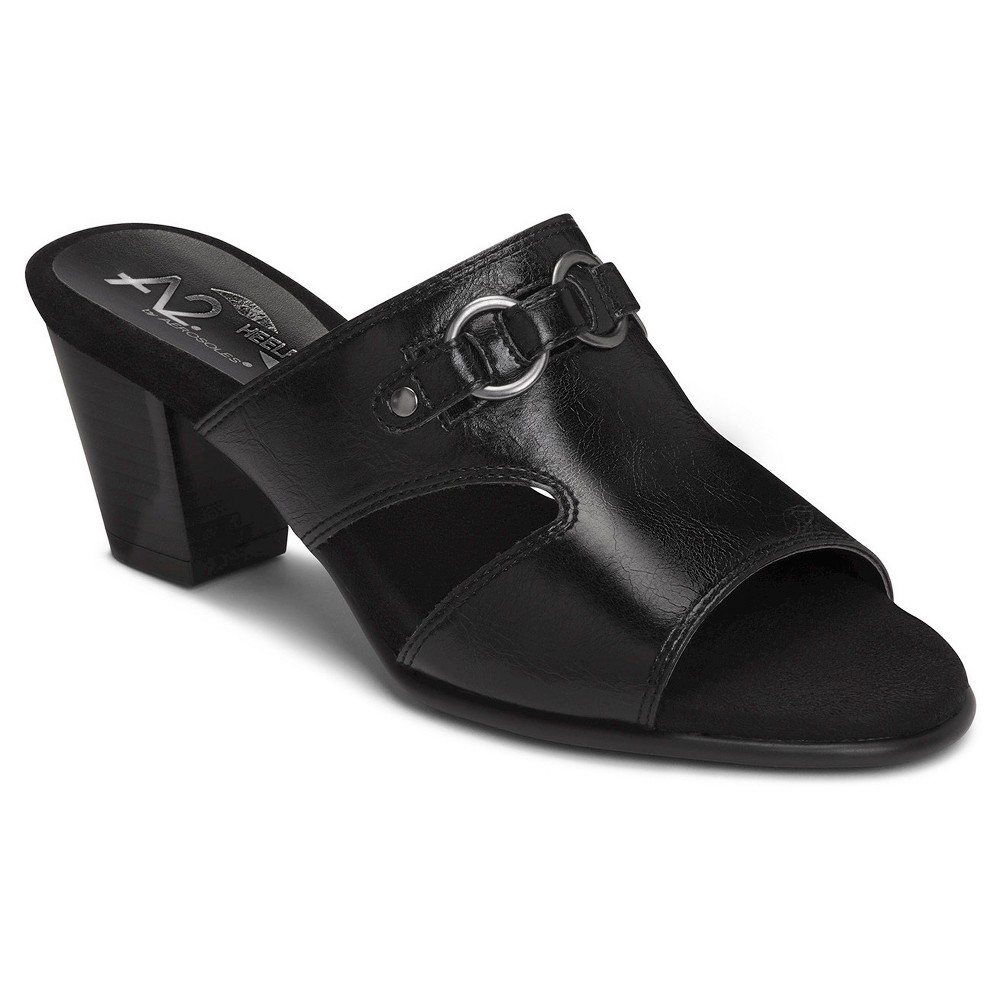 Womens A2 by Aerosoles Base Board Mules - Black 7