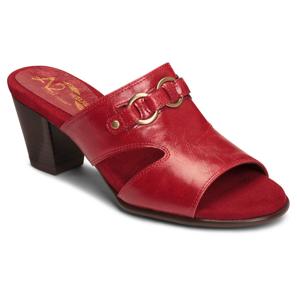 Women's A2 by Aerosoles Base Board Mules - Red 6.5