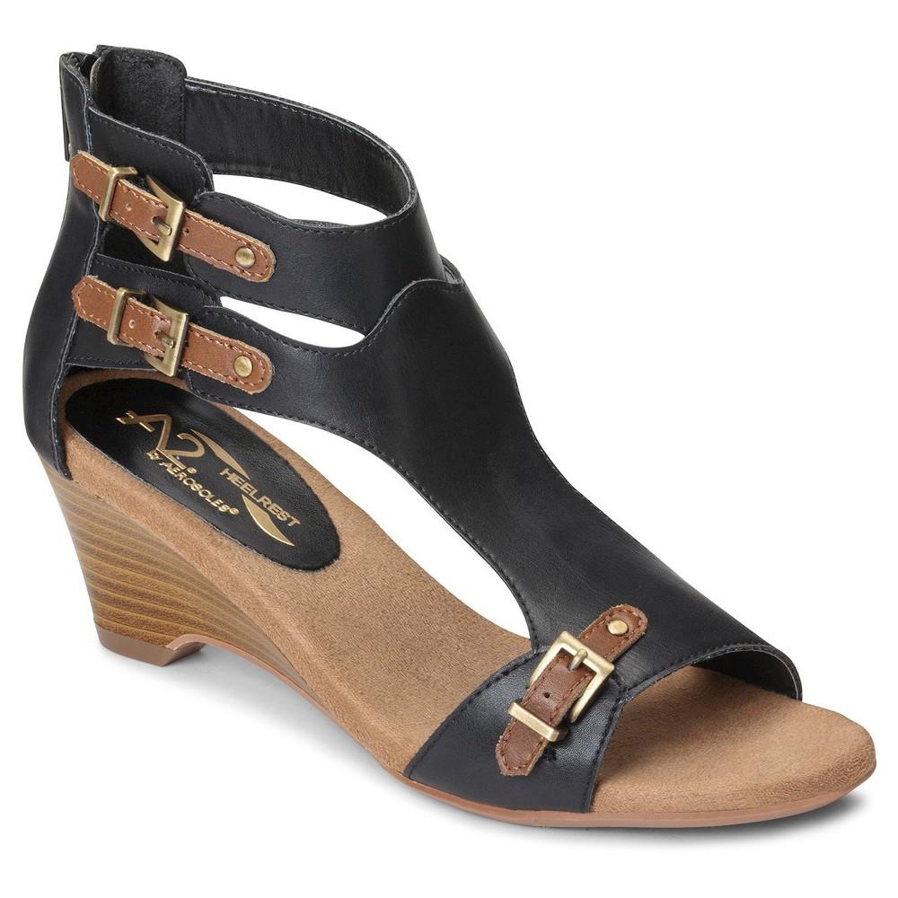 Women's A2 by Aerosoles Mayflower Gladiator Sandals - Black 6