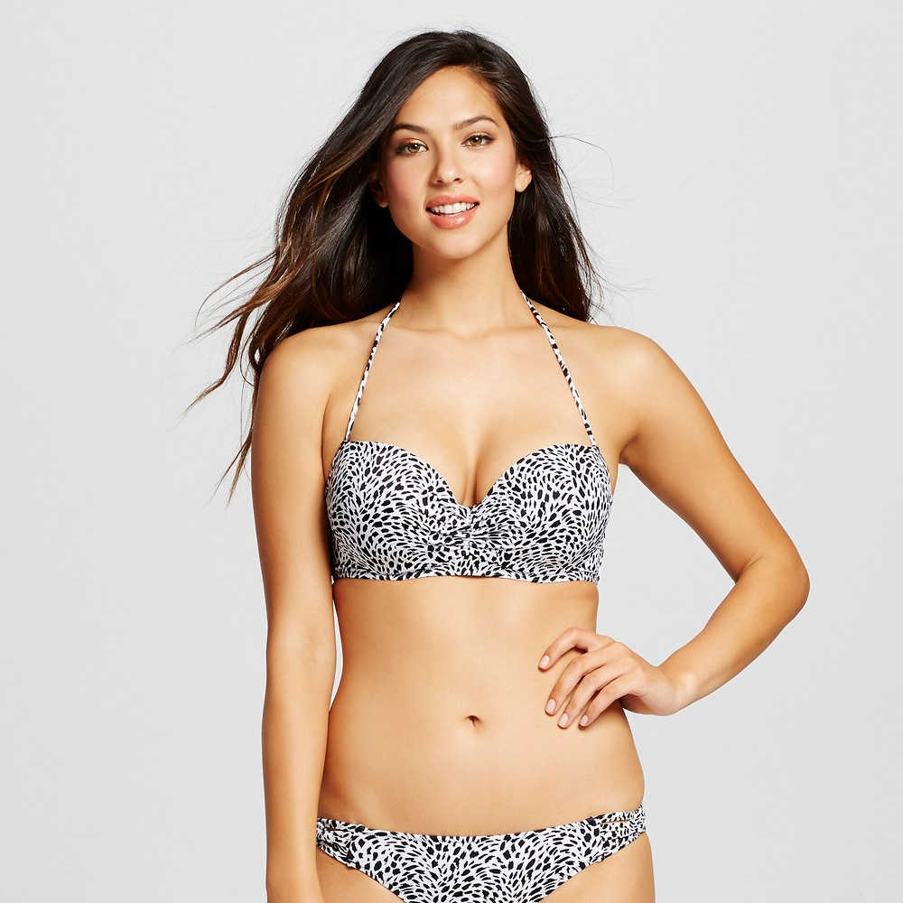 Womens Summer Halter Bikini Top - Shade & Shore Animal Print 36D, Gray