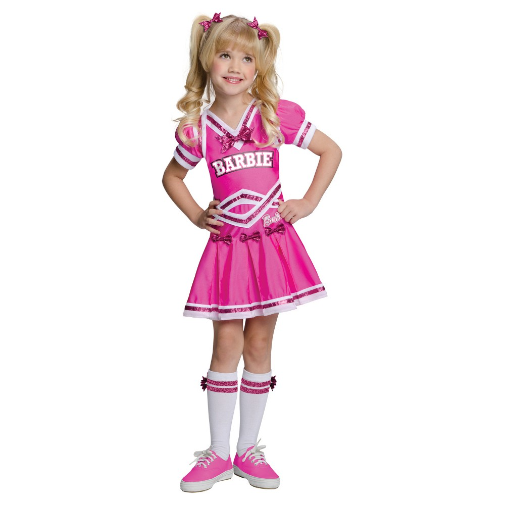 Barbie Girls Cheerleader Toddler Child Costume - M(7-8), Multicolored
