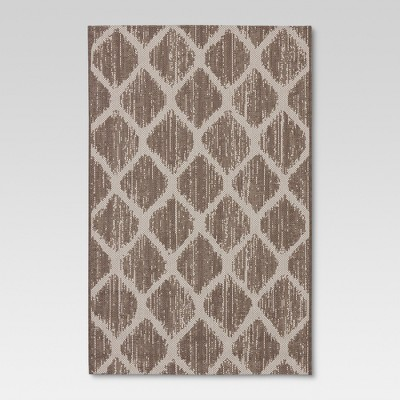 Brushed Diamond Taupe Outdoor Rug - 30 x50  - Threshold™