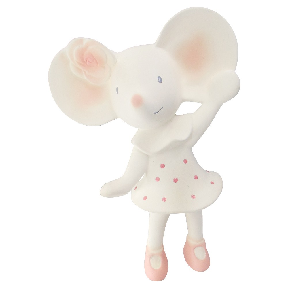 Meiya & Alvin the Mouse Rubber Squeaker Toy in window box - Cream, White
