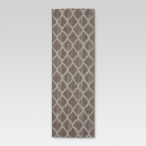 Runner Outdoor Rug - Brushed Diamond Taupe - Threshold, Taupe Brown