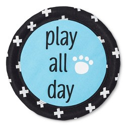 Territory Modern Dog Play All Day Canvas Disc Pet Toy - Blue - 10''