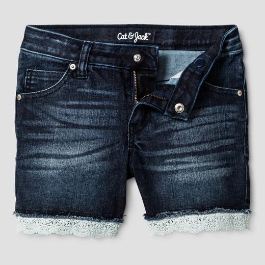 Girls' Jean Shorts - Cat & Jack™ Dark Blue : Target