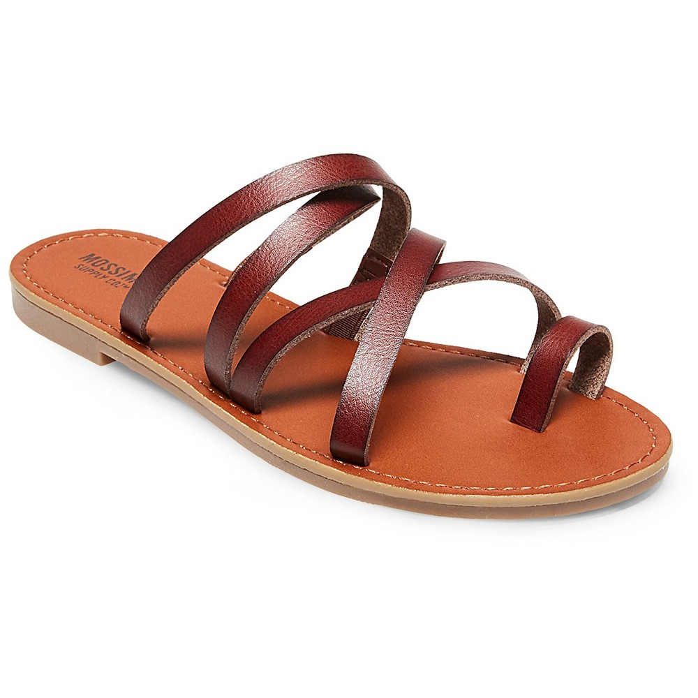 Womens Lina Slide Sandals - Mossimo Supply Co. Brown 7, Dark Brown