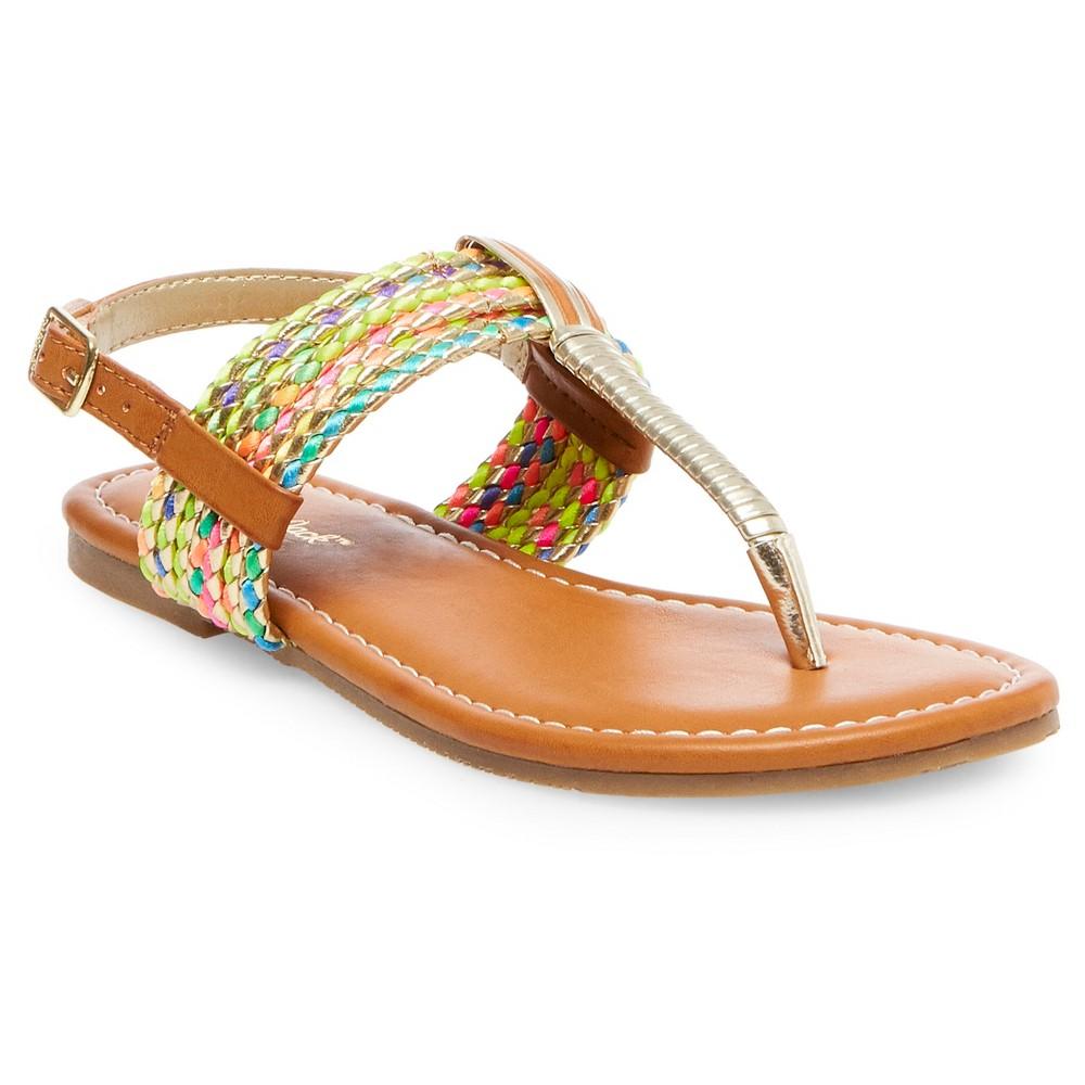 Girls Nikko Thong Sandals Cat & Jack - 5, Multi-Colored