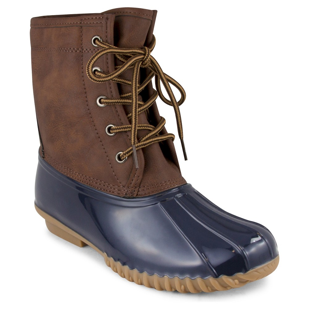Womens Cover Girl Duck Winter Boots - Navy (Blue) 8.5