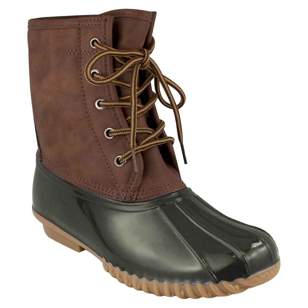 Womens Cover Girl Duck Winter Boots - Green 8.5