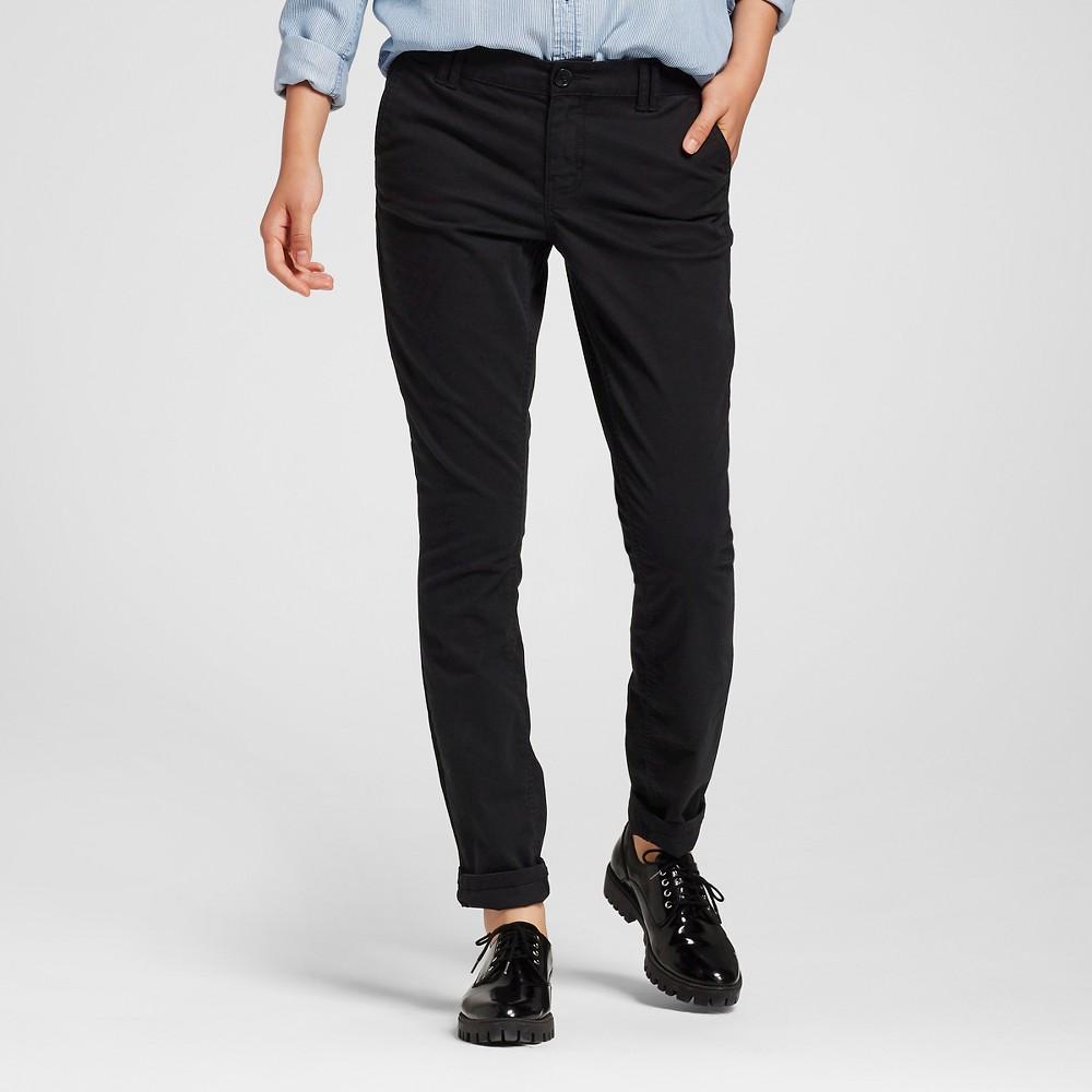 Womens Skinny Twill Chino Pants Black 0 - Mossimo Supply Co. (Juniors)