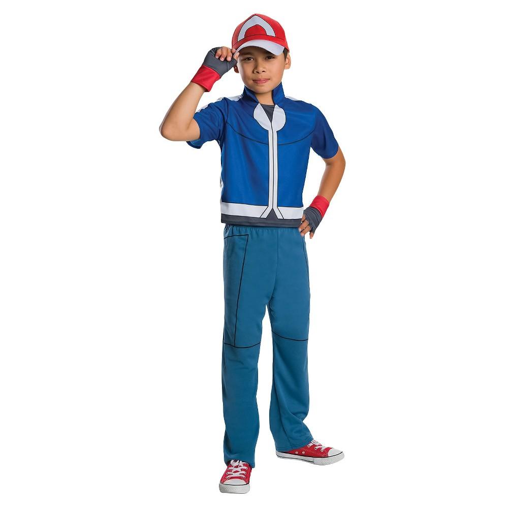 Pokemon Ash Ketchum Child Costume - M, Boys, Size: M(7-8), Multi-Colored
