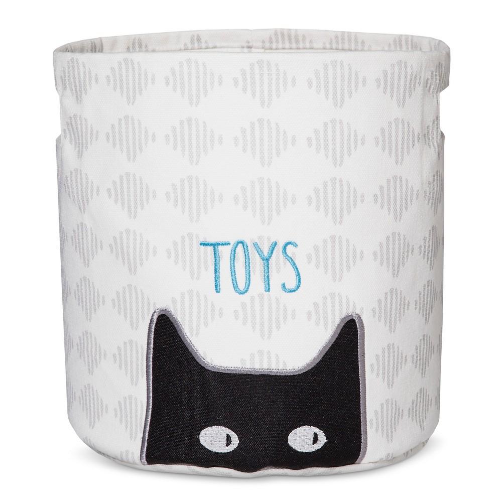 Territory Modern Cat Printed Canvas Storage Bin - Gray Print (Toys)