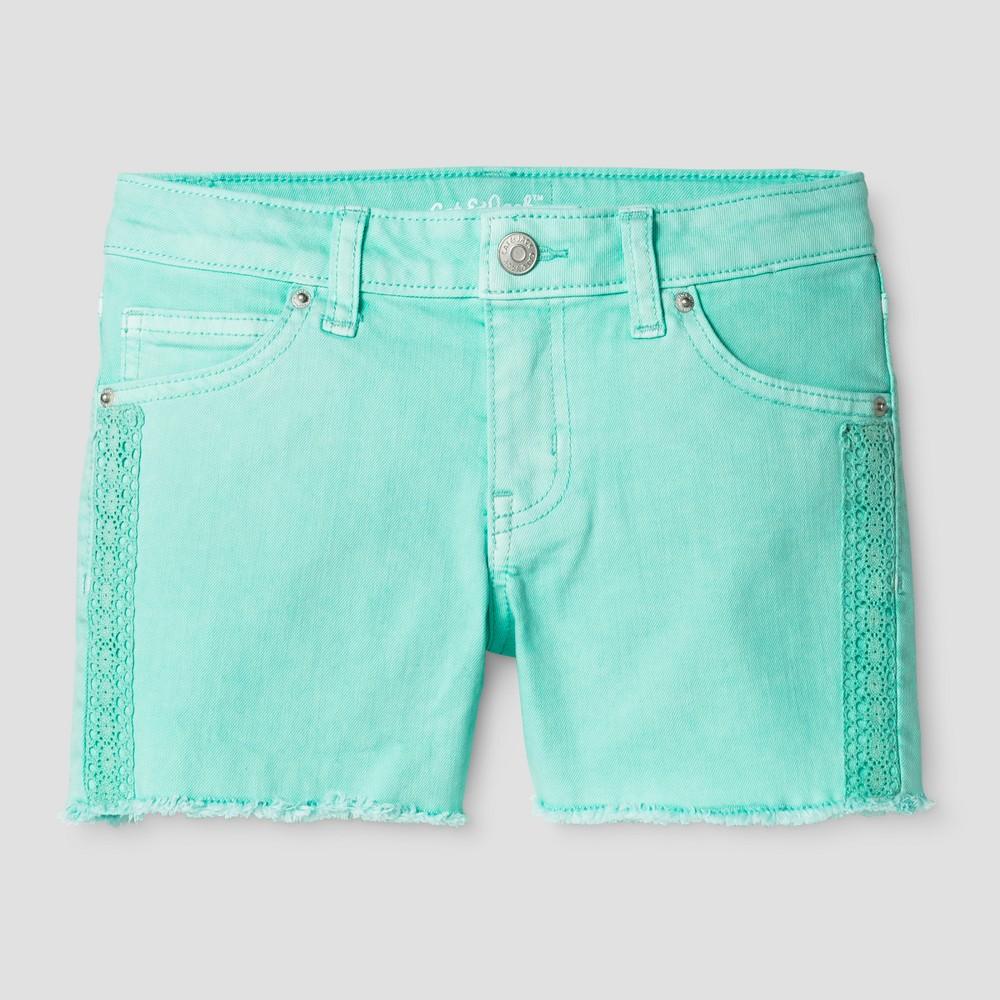 Plus Size Girls Jean Shorts - Cat & Jack Mint Green XL Plus