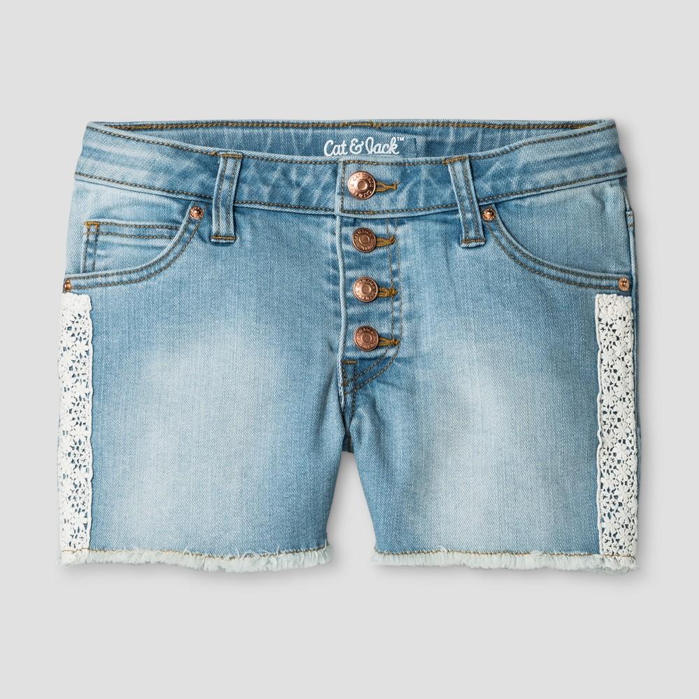 Girls Jean Shorts - Cat & Jack Light Denim XS, Blue