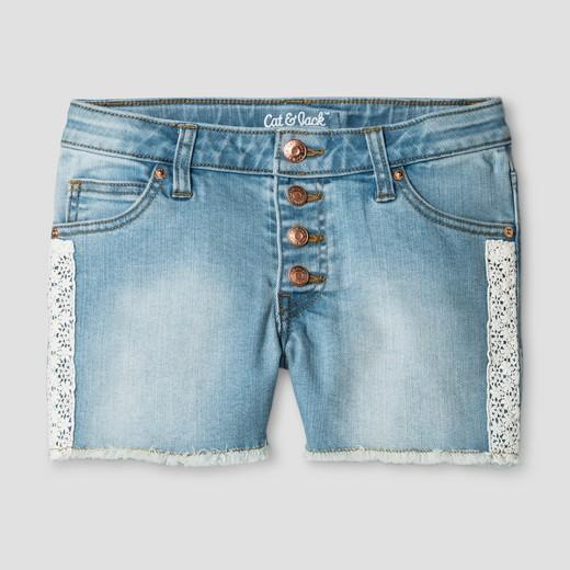 Girls' Jeans shorts Light Wash - Cat & Jack™ : Target