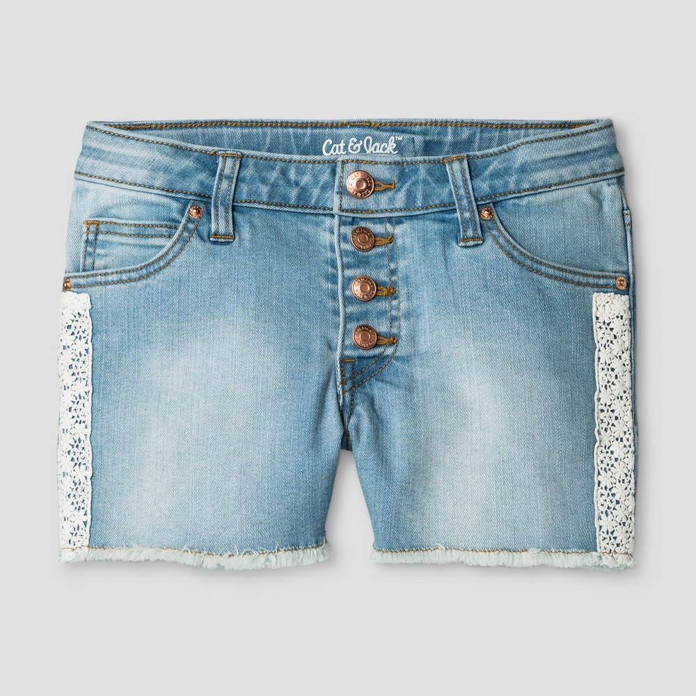 Plus Size Girls Jean Shorts - Cat & Jack Light Denim L Plus, Blue