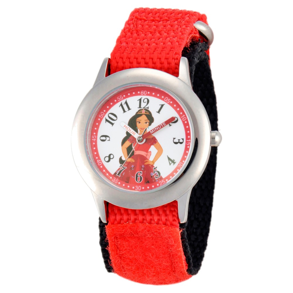 Girls Disney Elena of Avalor Stainless Steel Time Teacher Watch - Red