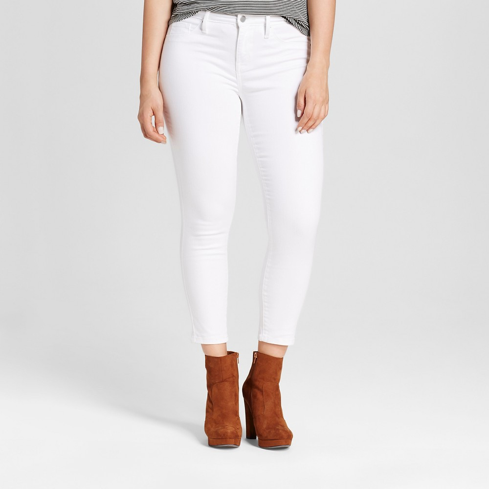 Womens Curvy Jeggings Crop - Mossimo White 0