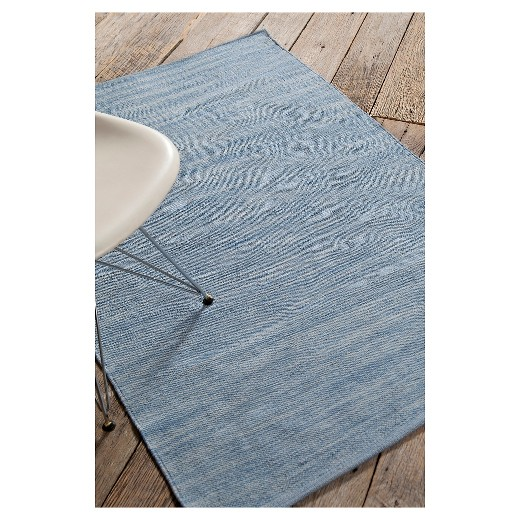 chandra india 7 hand-woven cotton area rug - blue : target