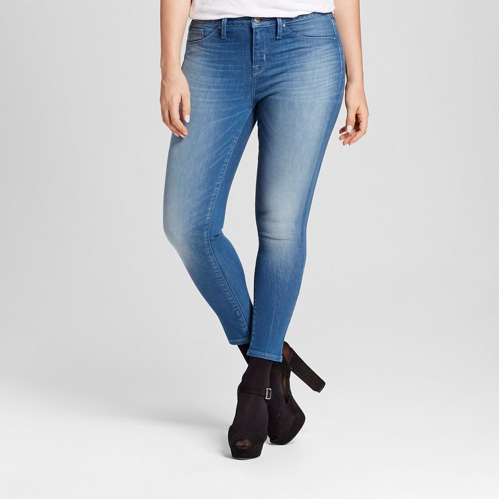 Womens Curvy Jegging Crop - Mossimo Medium Wash 18R, Size: 18, Blue