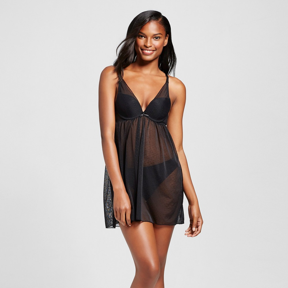 Ariette Petite Lingerie by The Little Bra Company Women's Isolde Deep Plunge Babydoll - Black 34B Find Bras at Target.com! This Ariette Petite Lingerie by The Little Bra Company Women's Isolde Deep Plunge Babydoll is a feminine and fashionable nightgown that has the deep-plunge bra built in, so you can experience comfort all night long. Size: 34B. Color: Black. Gender: Female. Age Group: Adult. Pattern: Lace. Material: Polyamide.