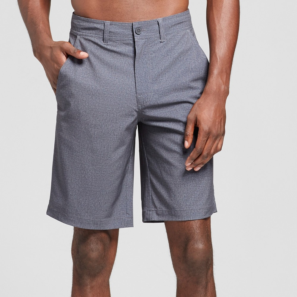 Mens Hybrid Swim Shorts Black Textured 33- Mossimo Supply Co., Size: 33
