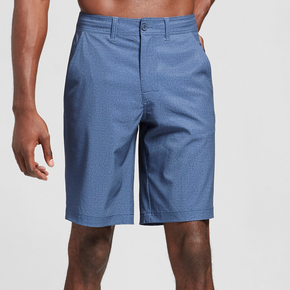Mens Hybrid Swim Shorts Navy (Blue) Textured 34 - Mossimo Supply Co.