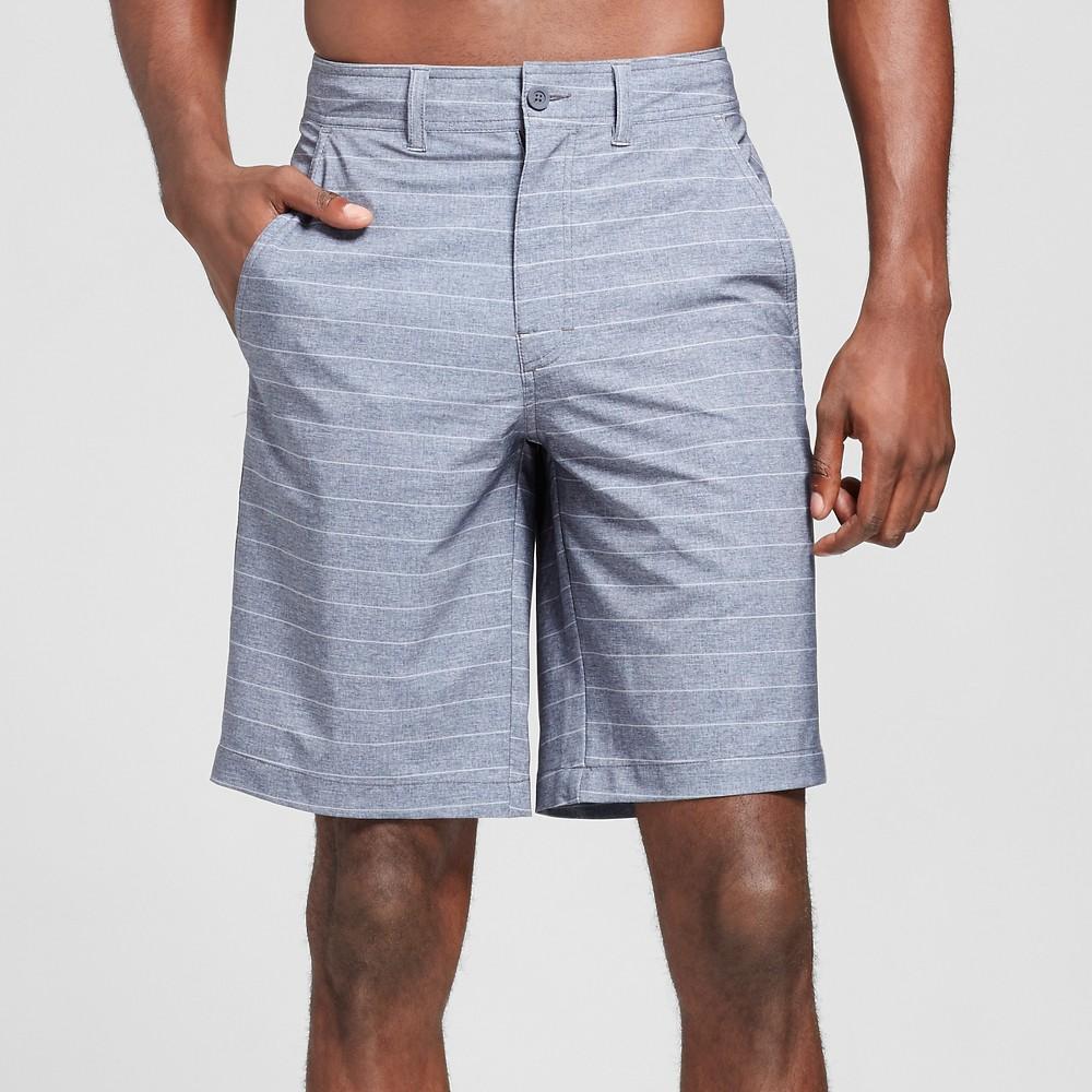Mens Hybrid Swim Shorts Black Stripe 34 - Mossimo Supply Co.