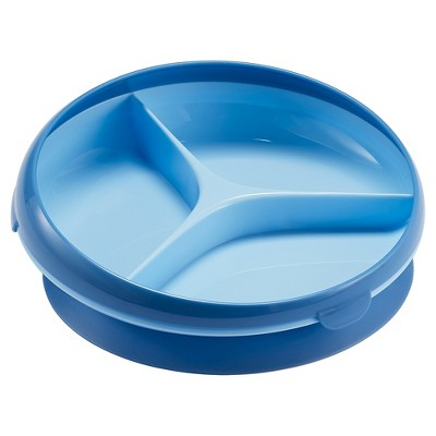 The First Years Inside Scoop Suction Sectioned Plate Blue