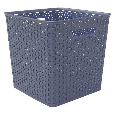Y-weave basket bin - 11  - Navy - Room Essentials™