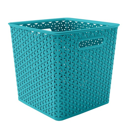 Basket Weaving Supplies Atlanta : Y weave basket bin quot blue room essentials target