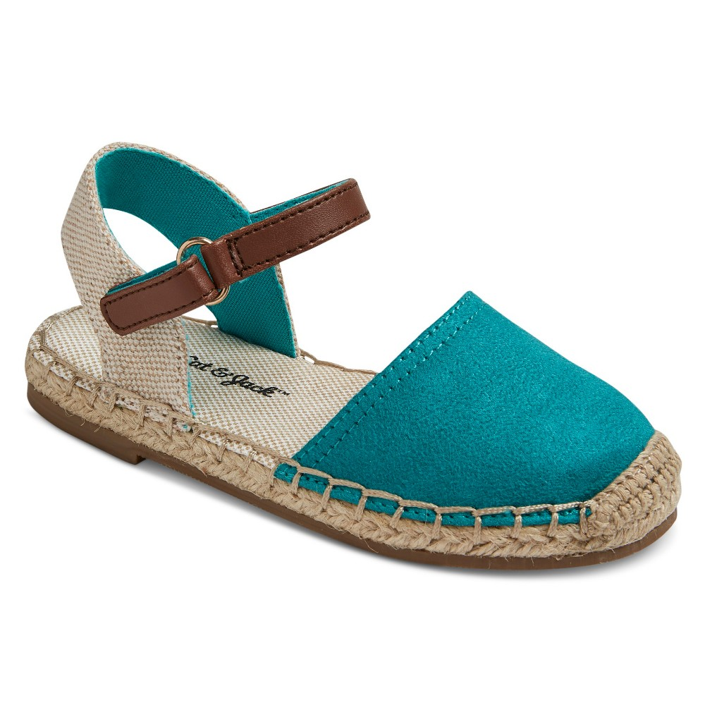 Toddler Girls Shaye Two Piece Espadrille Sandals Cat & Jack - Turquoise 5, Blue