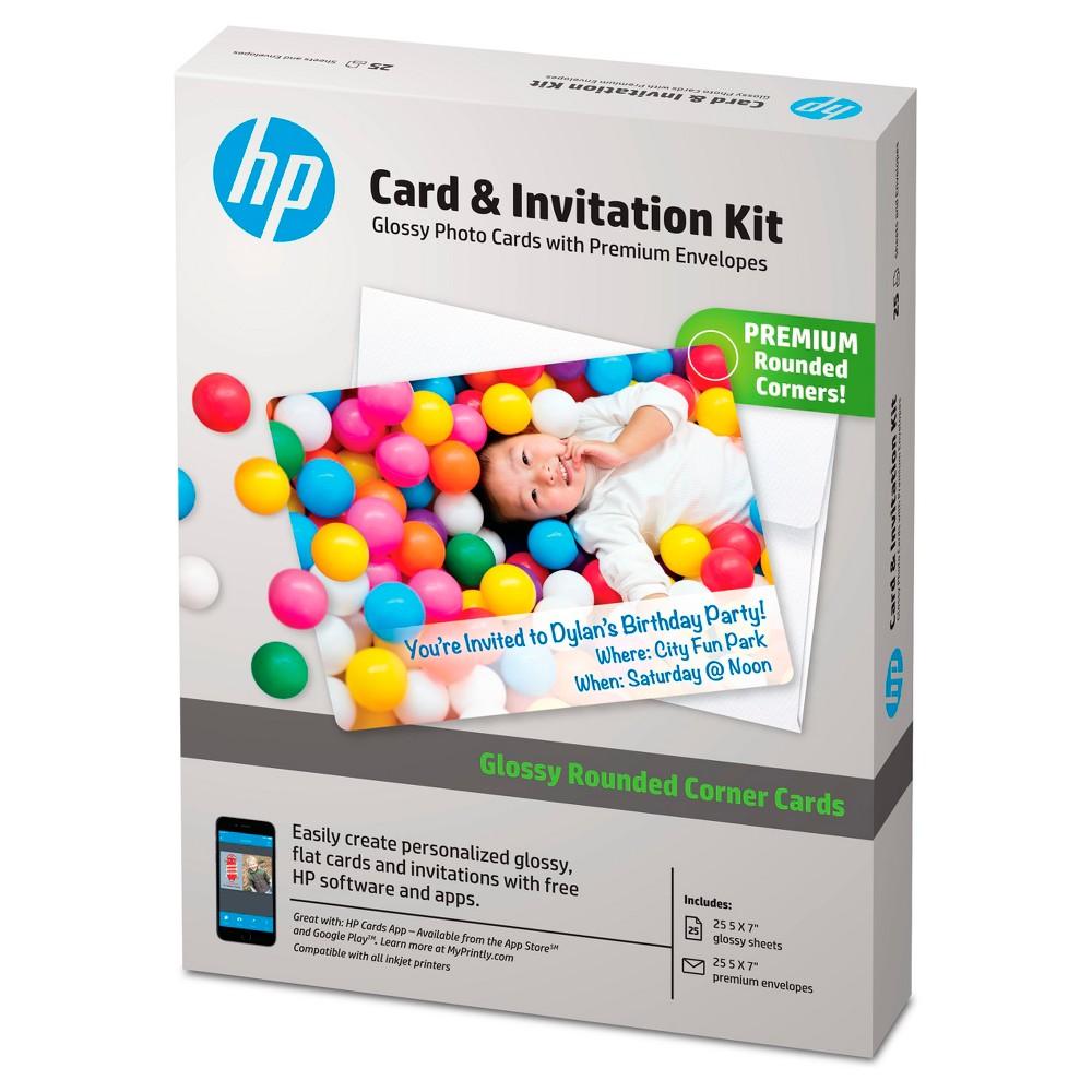 HP Photo Card Kit Paper 5 X 7 - White (K6B84A)