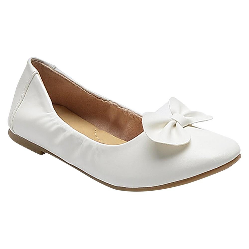 Girls Beth Ballet Flats Cat & Jack - White 4