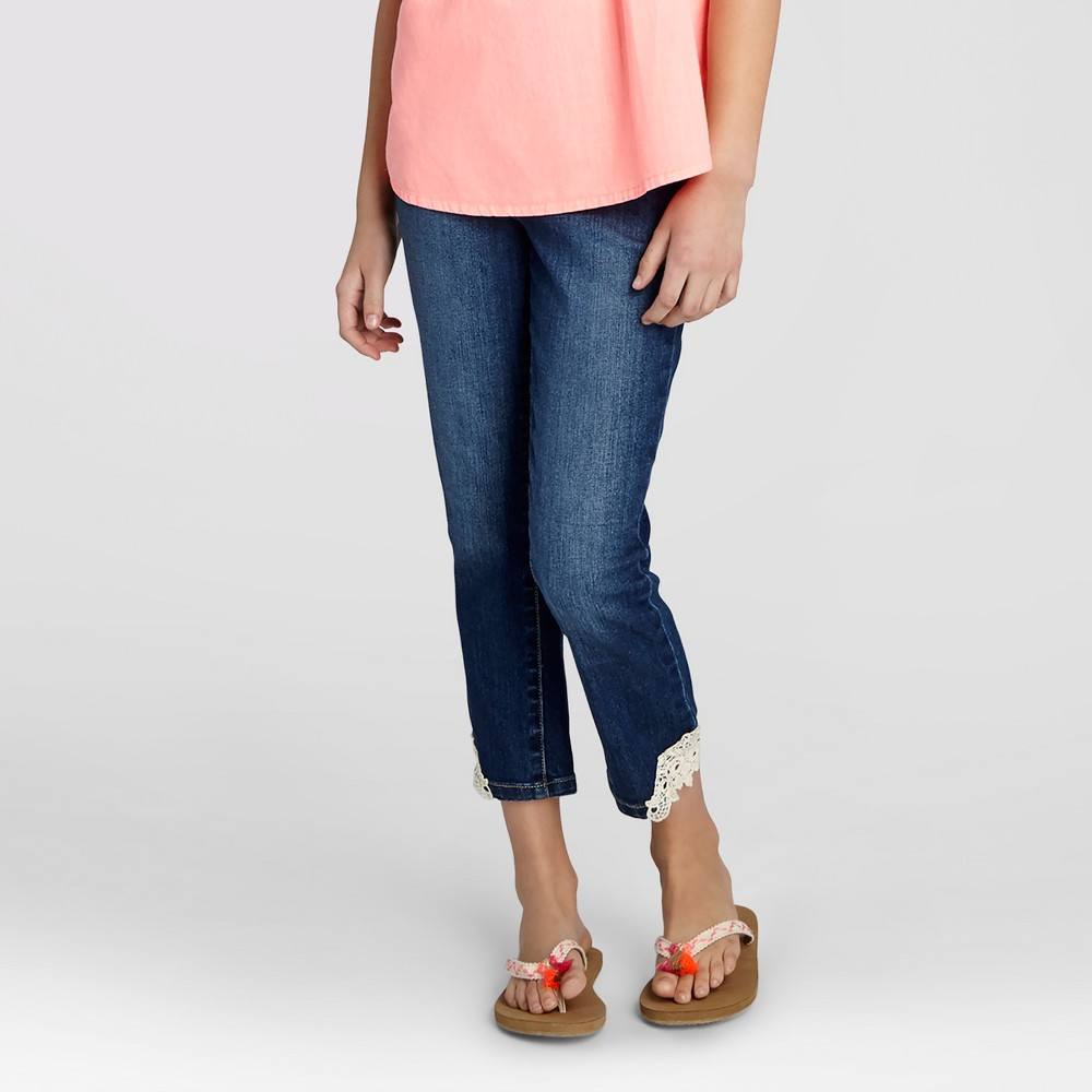 Plus Size Girls Cropped Jeans - Cat & Jack Dark Blue 12 Plus