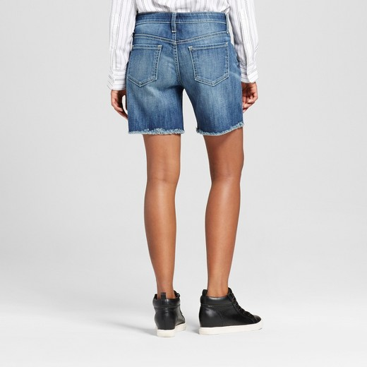 Women's Jean Shorts Dark Wash - Mossimo™ : Target
