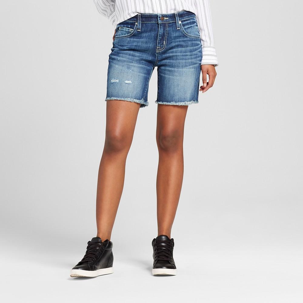 Womens Jean Shorts - Mossimo Dark Wash 0, Blue