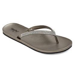 Women's Lula Rhinestone Detail Flip Flop Sandals - Mossimo™