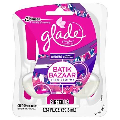 Glade Spring Plugins Scented Oil Refill, Batik Bazaar - 1.34oz, 2ct