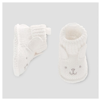 Baby Bunny Bootie Slippers - Just One You™ Made by Carter's® White NB