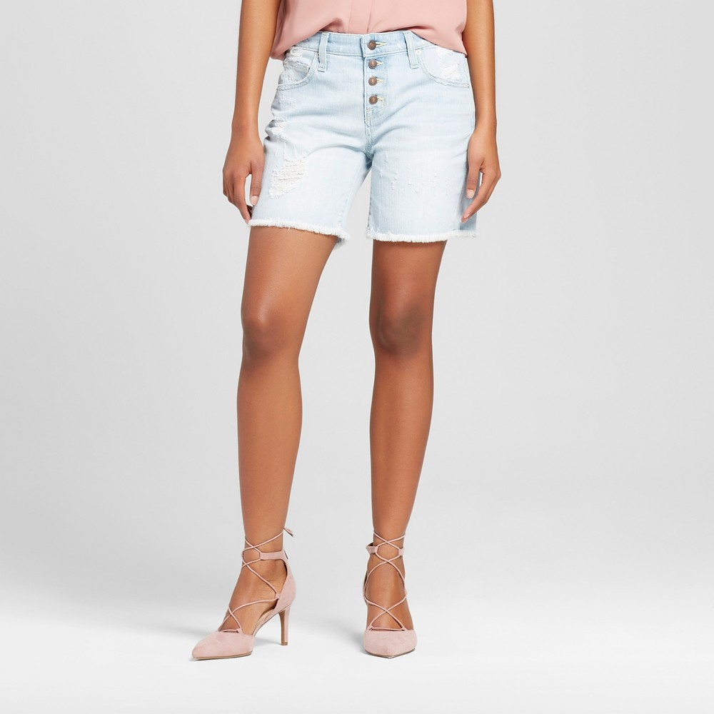 Womens Jean Shorts - Mossimo Light Wash 0, Size: 00, Blue