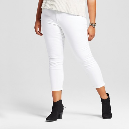 $20.00 ... - Women's Plus Size Jeggings Crop White - Ava & Viv™ : Target