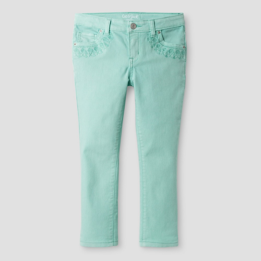 Girls Cropped Jeans - Cat & Jack Mint Green 7