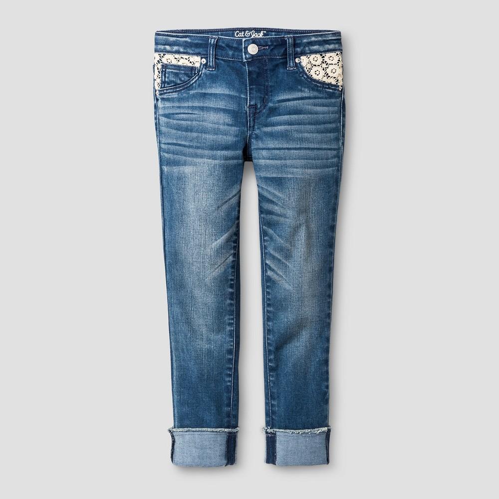 Girls Cropped Jeans - Cat & Jack Medium Blue 8