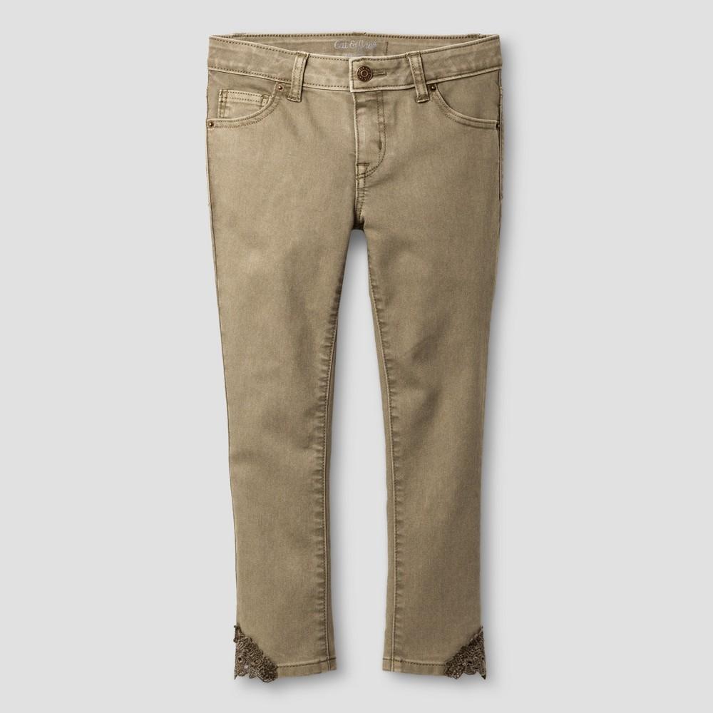 Plus Size Girls Cropped Jeans - Cat & Jack Light Denim 16 Plus, Blue