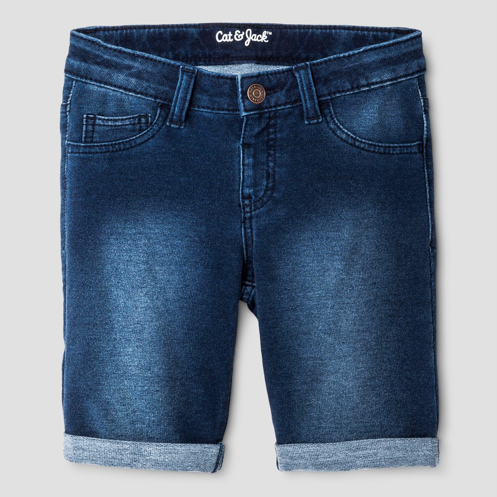Girls Jean Shorts - Cat & Jack Dark Blue L